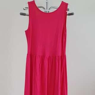 ASOS Pink Knee Length Low Back Dress