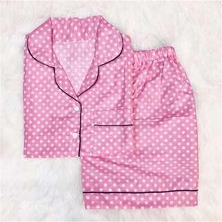Pink Polkadot Premium Pajamas