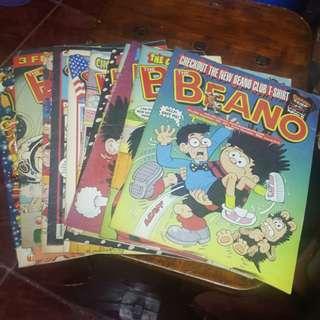 The Beano Magazines