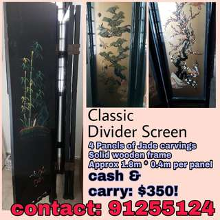Classic Jade Divider Screen for Sale!