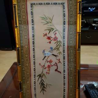 Bird and flowers picture frame