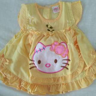 Dress Kuning Hello Kitty