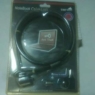 NoteBook Cable Lock(Used $2/ New $8-10)