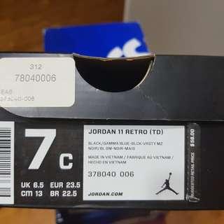 Nike Air Jordan 11 Retro original toddler shoes size 7C used