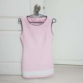 Pink Dress, Bust 15inch, Length 33 inch