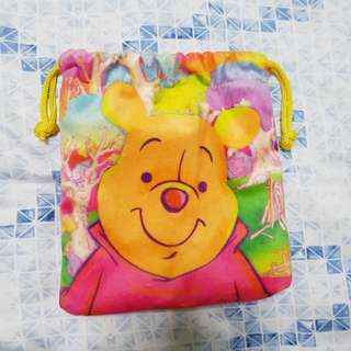 Winnie the Pooh drawstring pouch