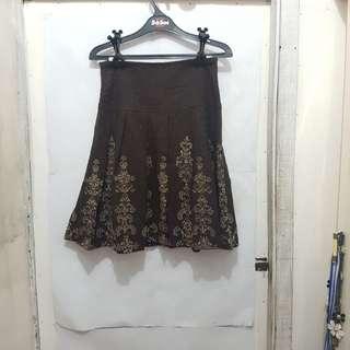 [SUBSIDI ONGKIR IDR 10.000] JK2 Brown Skirt