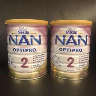 2x Nan Optipro 2 800g + FREE ORGANIC CEREAL