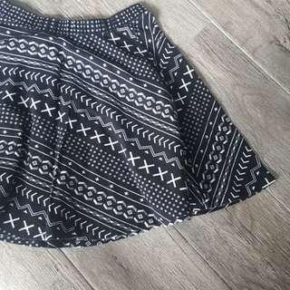 F21 Printed Skirt