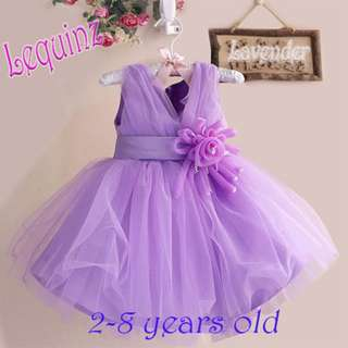 Lavender Wedding Dress Flower Girl Dress Birthday Party