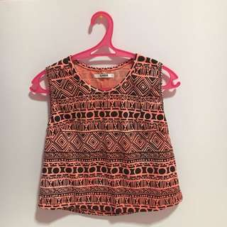 Aztec Cropped Top