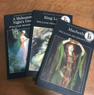 shakespeare macbeth king lear & a midsummer night's dream