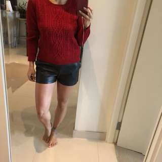 Temt red chunky sweater