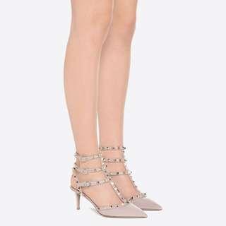 Valentino Rockstud ankle heels size 37