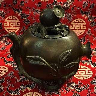 Antique Bronze Pomegranate Incense Burner