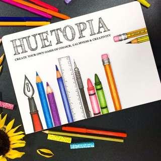 Huetopia coloring book