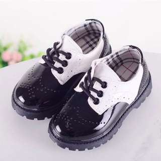Boys Black leather shoes Kids
