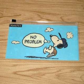 日本正版 Snoopy 史努比 史諾比 PVC膠筆袋