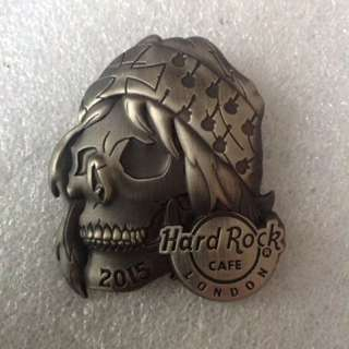 Hard Rock Cafe Pins - LONDON HOT 2015 3D ROCKER SKULL SERIES # 4!