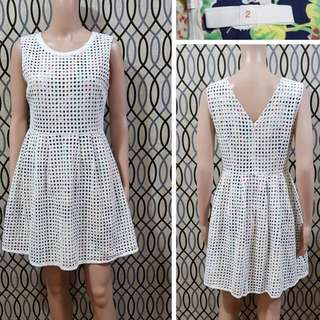 BREAD AND BUTTER EYELET DRESS (w/ floral lining)