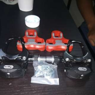 Wellgo spd pedals and cleats