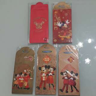 迪士尼利事封Disney red pockets~30封