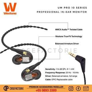 Westone UM Pro 10 Professional In-Ear Monitor Earphones