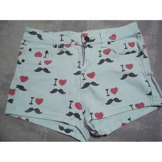 REPRICED! I LOVE MUSTACHE SHORTS