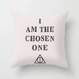 I AM THE CHOSEN ONE Harry Potter Throw Pillow Cushion Cover