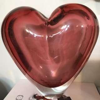 玻璃心型花瓶/ 裝飾「割」