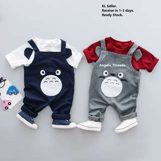 Baby Clothing Baby Boy Shirt Jumpsuit Toddler Kids Totoro (0-2 Years)