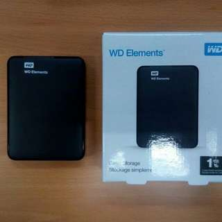 External Hard Drive WD Elements 1TB