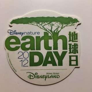 迪士尼2012地球日貼紙