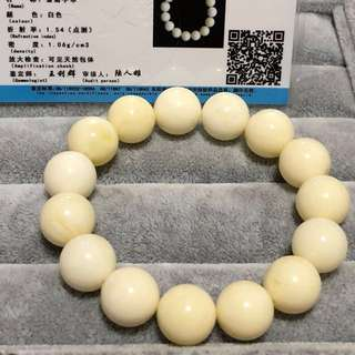 White beeswax bracelets crystals jade