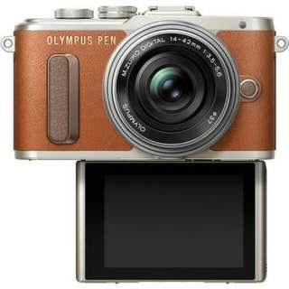 Olympus PEN E-PL8 with 14-42mm (Brown) Kredit cepat tanpa kartu kredit