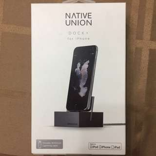 (New) Native Union Dock+ for iPhone)- Black