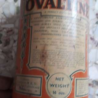 Vintage OVALTINE , The Supreme Food Beverage - 16 Ozn Tin - from ENGLAND - w/o lid