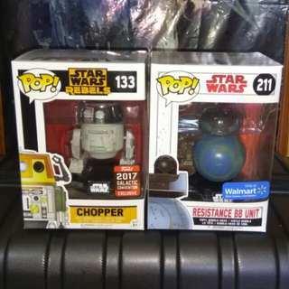 [PRE-ORDER] Star Wars Imperial Disguise Chopper & BB-8 Resistance Unit Funko Pop Bundle