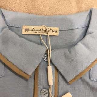 dave & bella Shirt & Berms set