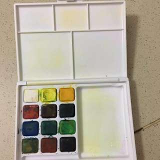 Travel size water color palette