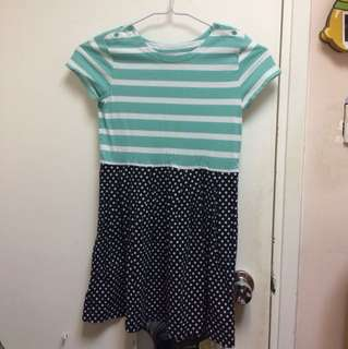 Soft stripe dress for girls
