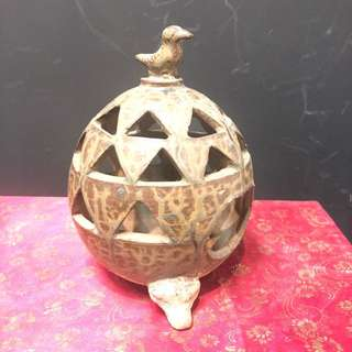 Antique ceramic incense burner