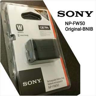 Delivery Included. Brand New and Sealed Original Sony Camera Battery NP-FW50