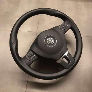 Vw steering with air bag module