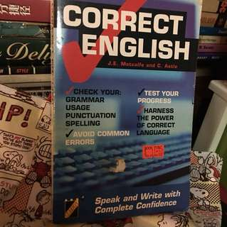 Correct English ( unused but kept for few years)