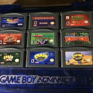 Authentic GBA Gameboy Advance cartridges