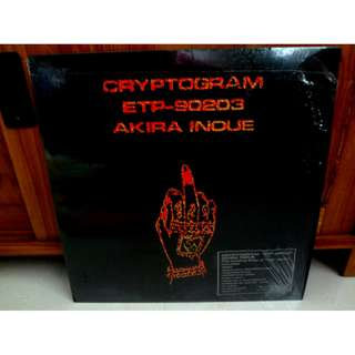 Akira Inoue Cryptogram Vinyl LP Record New Wave Japan Pressing