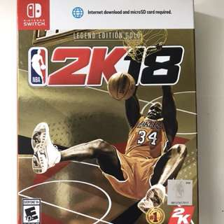 Nintendo Switch NBA 2K18 Legend Edition Gold