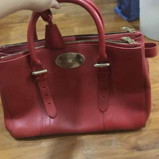 Mulberry red handle bag