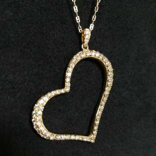 18k yellow gold with diamond pendant